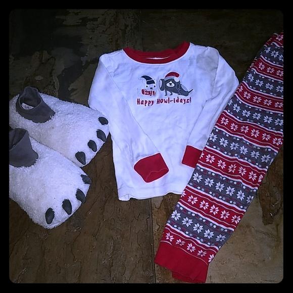 gymboree size 6 christmas pajamas